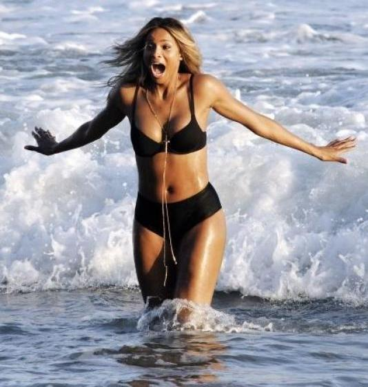 Check Out Ciara Looking Super-Sexy On The Beach