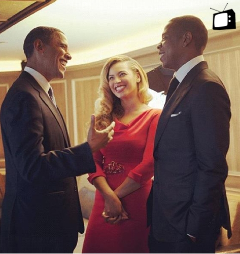 Jay-Z & Beyonce Get Presidential With Barack Obama At The 40/40 Club