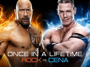 Once in a Lifetime  The Rock vs John Cena wrestlemania 28