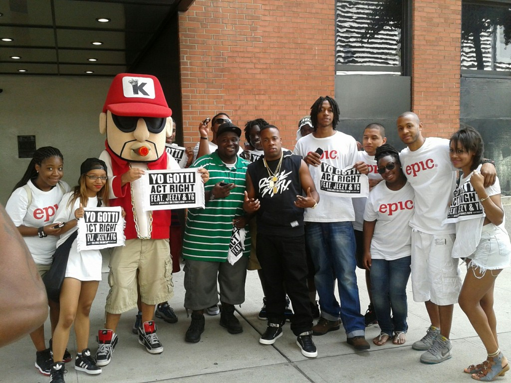 The Epic Street Team with Yo Gotti