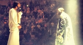 "Kanye West Brings 'White Jesus' Out On Stage For ""Jesus Walks"" During His ""Yeezus"" Tour Show In Seattle"