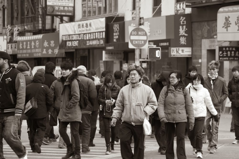 Chinatown in Black and White