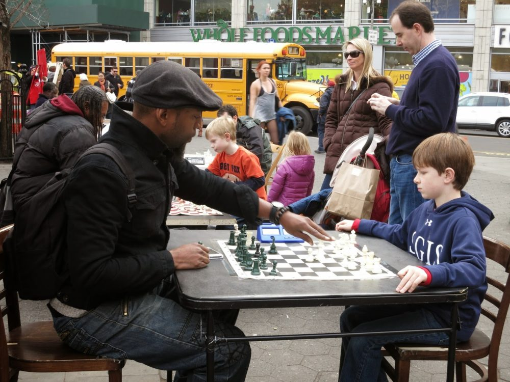 Man_Child Chess Game in Union Square