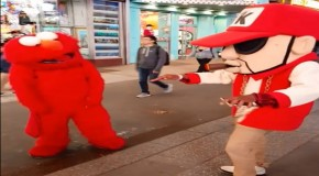 WATCH: Lil Gunz vs Elmo Dance-Battle in Times Square, NYC