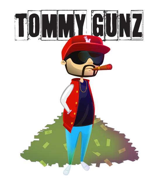 Tomm Gunz Cartoon Character Official